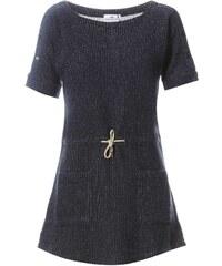 Loreak Mendian BASQUE ESPIGA - Kleid mit kurzem Schnitt - marineblau