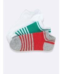 Cyrillus Lot de 3 paires de socquettes - menthe