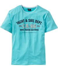 bpc bonprix collection T-shirt style double épaisseur bleu manches courtes homme - bonprix