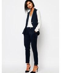 Vero Moda - Pantalon carotte ajusté - Bleu marine