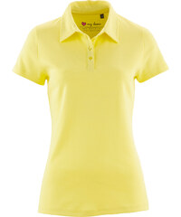 bpc bonprix collection Basic Baumwollshirt Rib-Jersey kurzer Arm in gelb für Damen von bonprix