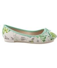 VICES Zelené balerínky s květy