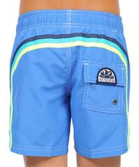 SUNDEK elastic waist mid-length swim shorts