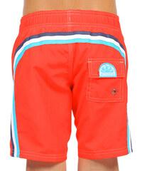 SUNDEK elastic waist long swim shorts