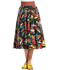 MARNI lectric print wide skirt