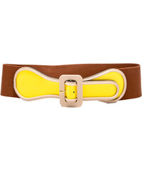 MARNI patent elastic high waist belt