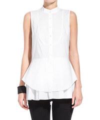10 CROSBY DEREK LAM white long blouse