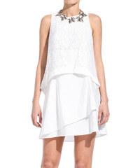 10 CROSBY DEREK LAM white lace dress