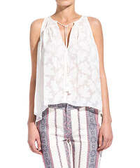 10 CROSBY DEREK LAM embroidered silk top color white
