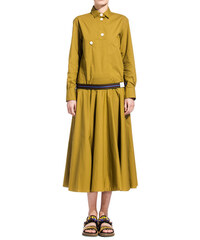 MARNI green long dress with button