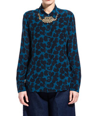 EQUIPMENT black breet blouse with heart print