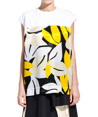 MARNI printed scoop neck t-shirt color white