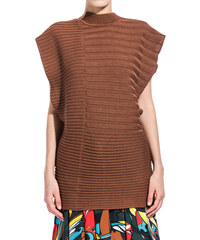 MARNI ribbed top color brown