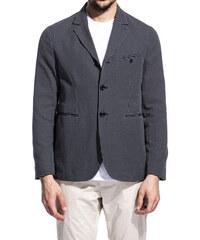 CAMO haway check jacket color navy blue