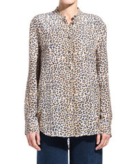 EQUIPMENT reese blouse with leopard print