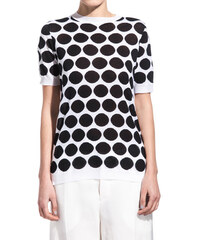 MARNI polka dot cotton sweater color white