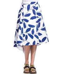 MARNI silouhette print skirt color white