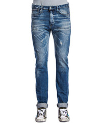 EDWIN slim tapered jeans with rips