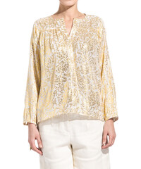 MASSCOB embroidered blouse color gold