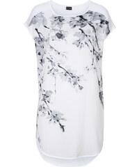 BODYFLIRT T-shirt long blanc manches courtes femme - bonprix
