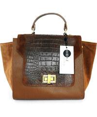 Jiné Dámská kabelka hadího vzoru Brown color