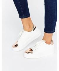 ASOS - DEFINITELY - Baskets à lacets - Blanc