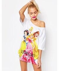 """ASOS - Disney - Schlafshirt mit Prinzessinnen-Print und """"Squad Goals""""-Aufschrift - Mehrfarbig"""