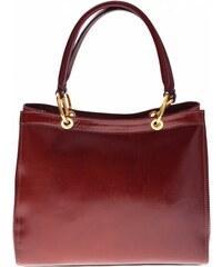 Genuine Leather Kožený kufřík italské výroby hnědý
