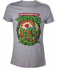 SEGA Herren T-Shirt Tmnt - Ninja With Pizza