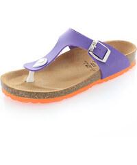 Fialovo-oranžové pantofle Everlast EV224