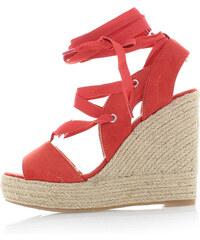 Vanessa Wu Tmavě korálové platformové sandály Efie