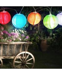 Lesara Bunte Lampion-Lichterkette