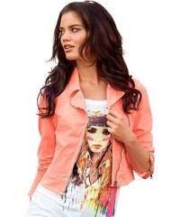 Laura Scott Dámská džínová bunda neon růžová