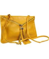 Talianská kožená kabelka Maida Gialla Taschino 973babb9764