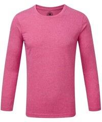 Chlapecké triko s dlouhými rukávy - Zářivě růžová 116 (5-6)