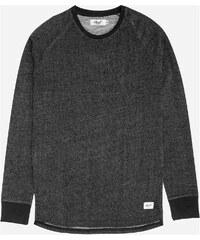triko REELL - Raglan Longsleeve Black Melange (BLACK MELANGE)