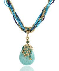Lesara Halskette mit Naturstein - Blau