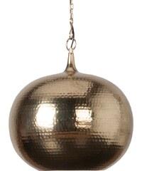 Zuiver Závěsná lampa Hammered round brass