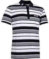 Pánské triko s límečkem ISOL ALTISPORT ČERNOBÍLÁ