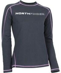 Dámské funkční triko dlouhý rukáv NORTHFINDER TR-4042OR ČERNORŮŽOVÁ
