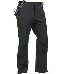 Pánské zimní kalhoty SOFTSHELL ALTISPORT CARMEL ALMW14021 ČERNOŽLUTÁ
