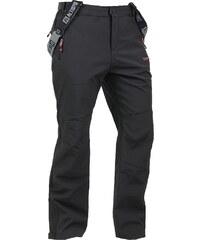 Pánské zimní kalhoty SOFTSHELL ALTISPORT CARMEL ALMW14021 ČERNOČERVENÁ