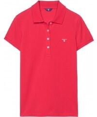 GANT Polo à Manches Courtes En Coton Piqué - Bright Red