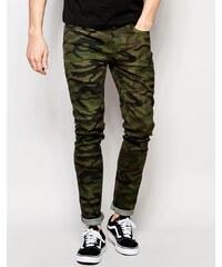Kubban - Skinny-Jeans mit Tarnmuster - Schwarz