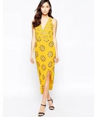 Virgos Lounge Virgo's Lounge - Daria - Verziertes, asymmetrisches Kleid - Gelb