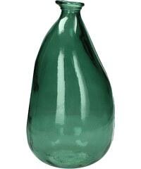 KERSTEN - Váza z recyklovaného skla, zelená 21x21x36cm (LEV-4615)