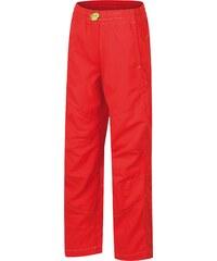 Hannah Dětské plátěné kalhoty Twin JR - červené