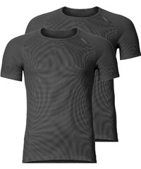 Odlo Cubic 2 Pack T-shirt ebony grey/black