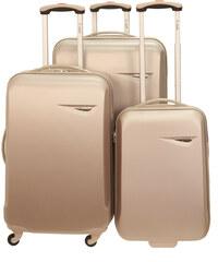 Cestovní kufry set 3ks Dielle S,M,L 235-28 šampaňská