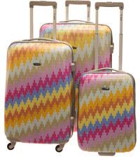 Cestovní kufry set 3ks Dielle S,M,L 270-40 vícebarevná